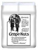 Ad Grape Nuts, 1919 Duvet Cover