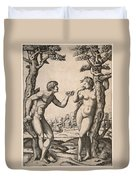 Adam And Eve Duvet Cover