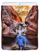 Adam Jewell At Capitol Reef Shower And Laundromat Duvet Cover by Adam Jewell