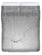 Adelaide Street Map - Adelaide Australia Road Map Art On Colored Duvet Cover