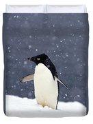 Adelie Penguin Standing In Fresh Duvet Cover