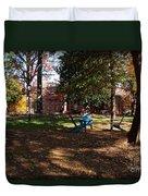 Adirondack Chairs 2 - Davidson College Duvet Cover