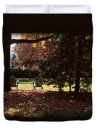 Adirondack Chairs-3 - Davidson College Duvet Cover