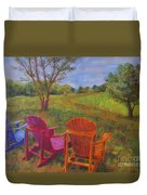 Adirondack Chairs In Leiper's Fork Duvet Cover