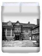 Adlington Hall Courtyard Bw Duvet Cover