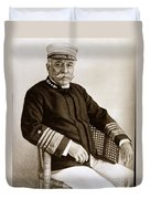 Admiral Of The Navy George Dewey Seen In 1899 On The Uss Olympia Duvet Cover