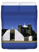 Adobe Church Taos Duvet Cover