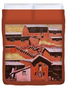 Adobe Village - Peru Impression II Duvet Cover