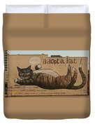 Adopt A Kat Or Me Now Duvet Cover