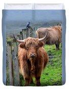 Adorable Highland Cow Duvet Cover