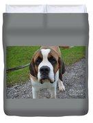 Adorable Saint Bernard Dog Duvet Cover