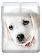 Adorable Yellow Lab Puppy Duvet Cover