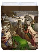 Adoration Of The Magi Duvet Cover