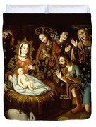 Adoration Of The Sheperds Duvet Cover