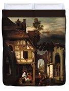 Adoration Of The Shepherds Duvet Cover