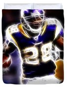 Adrian Peterson 01 - Football - Fantasy Duvet Cover