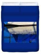 Adrift On The Deep Blue Duvet Cover