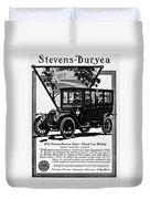 Ads Automobile, 1912 Duvet Cover