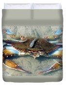 Adult Male Blue Crab Duvet Cover
