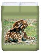 Adult Reticulated Giraffe Duvet Cover