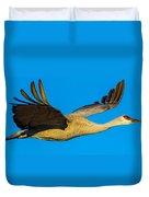 Adult Sandhill Crane Duvet Cover