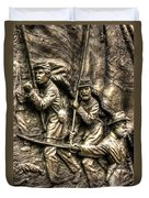 Advancing The Colors - State Of Delaware Monument Gettysburg Detail-a Autumn Mid-day Duvet Cover