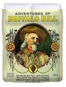 Adventures Of Buffalo Bill Duvet Cover