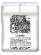 Advertisement: Buchu, 1871 Duvet Cover