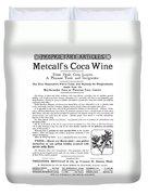 Advertisement: Coca Wine Duvet Cover