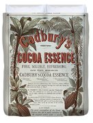 Advertisement For Cadburs Cocoa Essence From The Graphic Duvet Cover