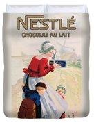 Advertisement For Chocolat Au Lait Duvet Cover