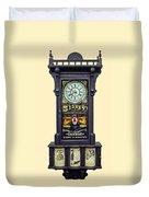 Advertising Clock Duvet Cover