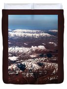 Aeial View Of The Snowy Mountains Duvet Cover