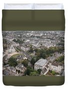 Aerial Chartres Duvet Cover