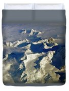 Aerial Ice Fields Duvet Cover