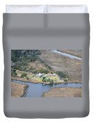 Aerial Jekyll Island Area Duvet Cover