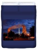 Aerial Lift Bridge Duvet Cover