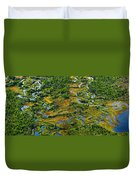 Aerial Of A Wetland, Over Northern Duvet Cover