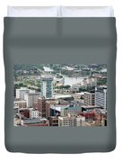 Aerial Of Downtown Wichita Duvet Cover