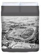 Aerial Of Indy 500 Duvet Cover