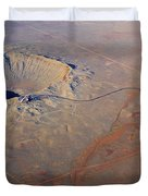 Aerial Of Meteor Crater Duvet Cover