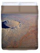Aerial Of Meteor Crater Duvet Cover