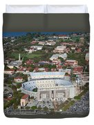 Aerial Of Tiger Stadium Duvet Cover