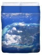 Aerial Over Atoll Duvet Cover