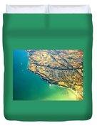 Aerial Photography - Italy Coast Duvet Cover