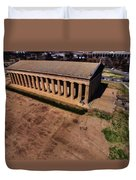 Aerial Photography Of The Parthenon Duvet Cover