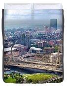 Aerial Shot Of Boston Duvet Cover
