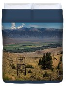Aerial Tramway Towers Duvet Cover
