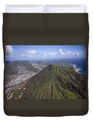 Aerial View Honolulu Hawaii Duvet Cover