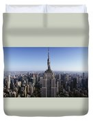 Aerial View Of A Cityscape, Empire Duvet Cover